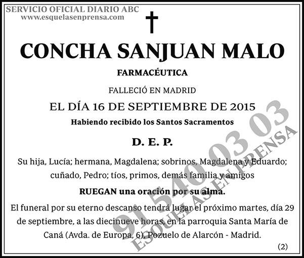 Concha Sanjuan Malo